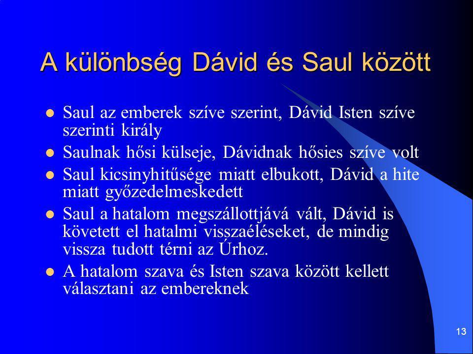 A különbség Dávid és Saul között