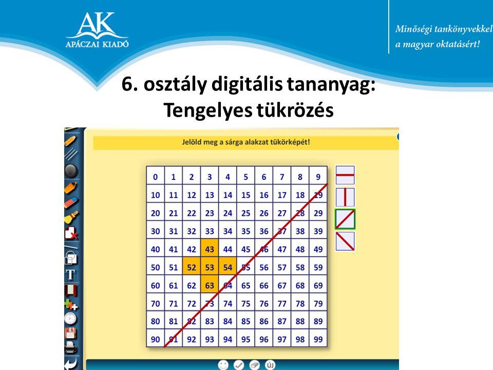 6. osztály digitális tananyag: Tengelyes tükrözés