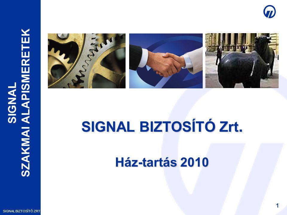 SIGNAL BIZTOSÍTÓ Zrt. Ház-tartás 2010