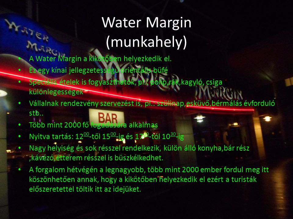 Water Margin (munkahely)