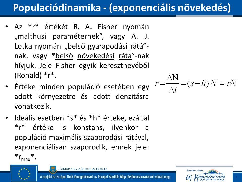 Populaciódinamika - (exponenciális növekedés)