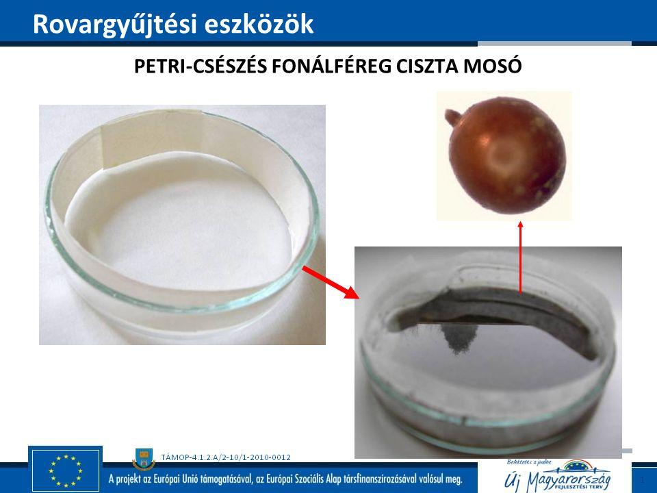 PETRI-CSÉSZÉS FONÁLFÉREG CISZTA MOSÓ