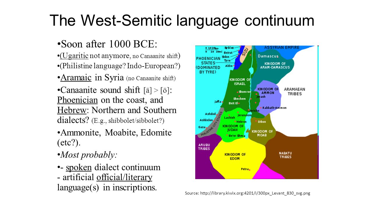 The West-Semitic language continuum