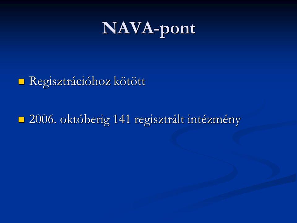 NAVA-pont Regisztrációhoz kötött