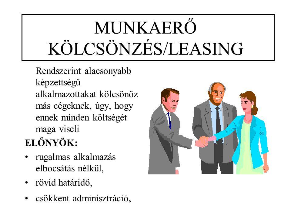 MUNKAERŐ KÖLCSÖNZÉS/LEASING