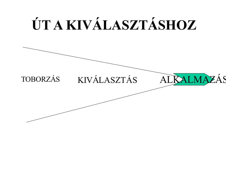 ÚT A KIVÁLASZTÁSHOZ TOBORZÁS KIVÁLASZTÁS ALKALMAZÁS