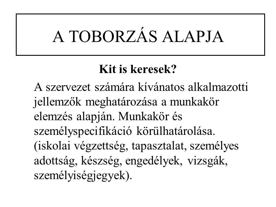 A TOBORZÁS ALAPJA Kit is keresek