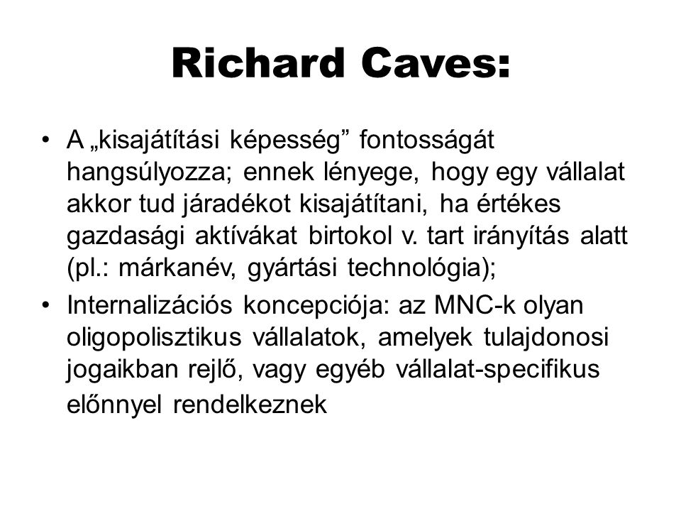 Richard Caves: