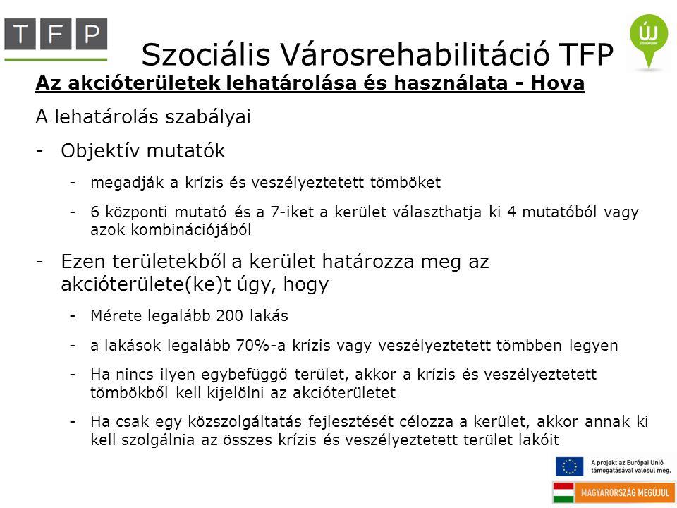 Szociális Városrehabilitáció TFP