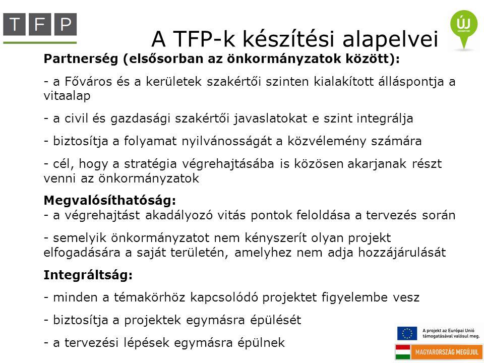 A TFP-k készítési alapelvei