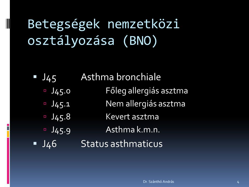 Betegségek nemzetközi osztályozása (BNO)