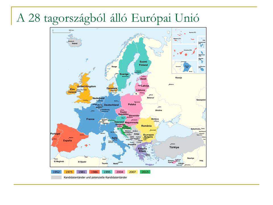 A 28 tagországból álló Európai Unió