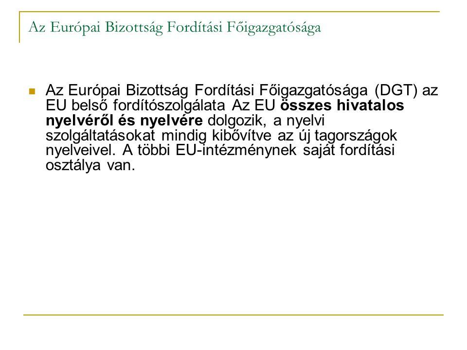Az Európai Bizottság Fordítási Főigazgatósága