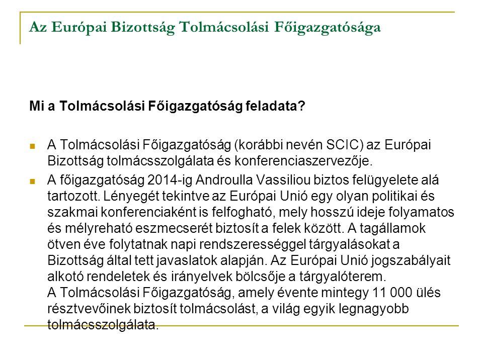 Az Európai Bizottság Tolmácsolási Főigazgatósága
