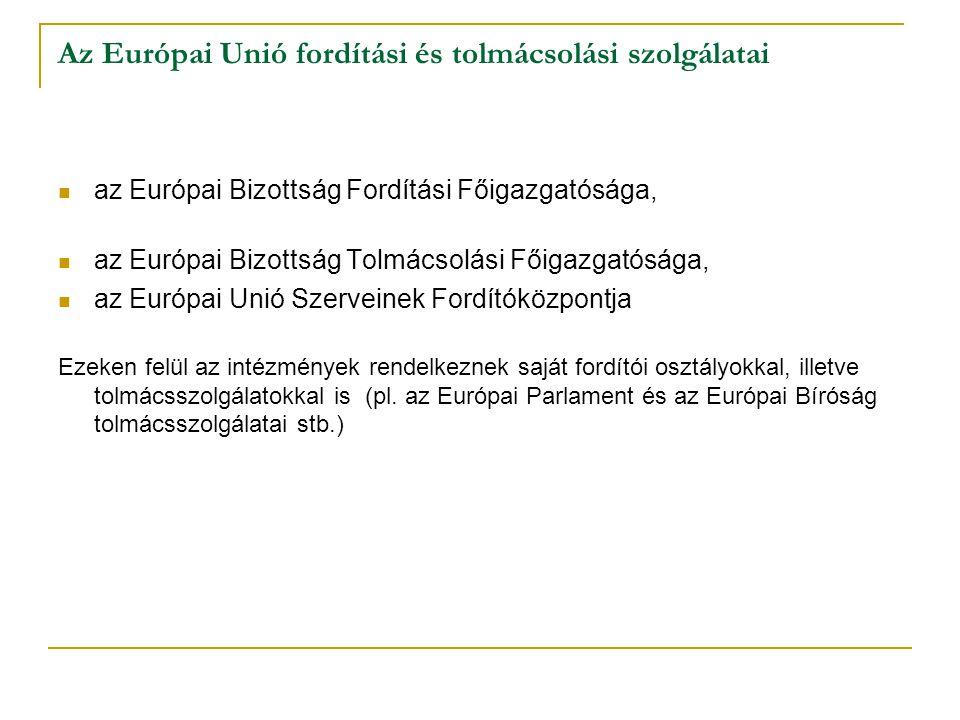 Az Európai Unió fordítási és tolmácsolási szolgálatai