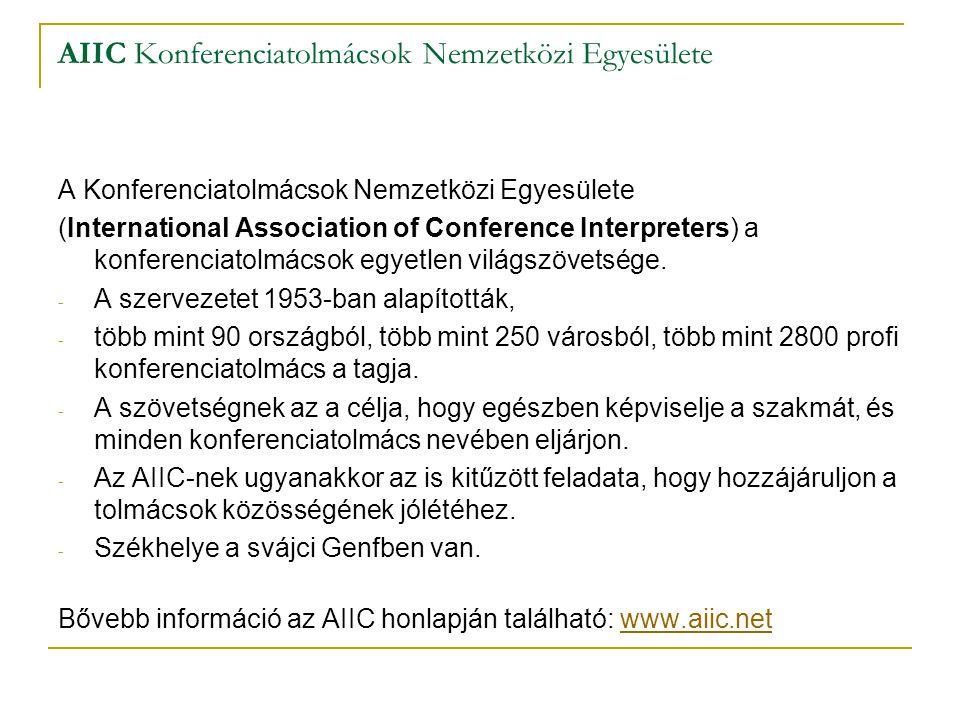 AIIC Konferenciatolmácsok Nemzetközi Egyesülete