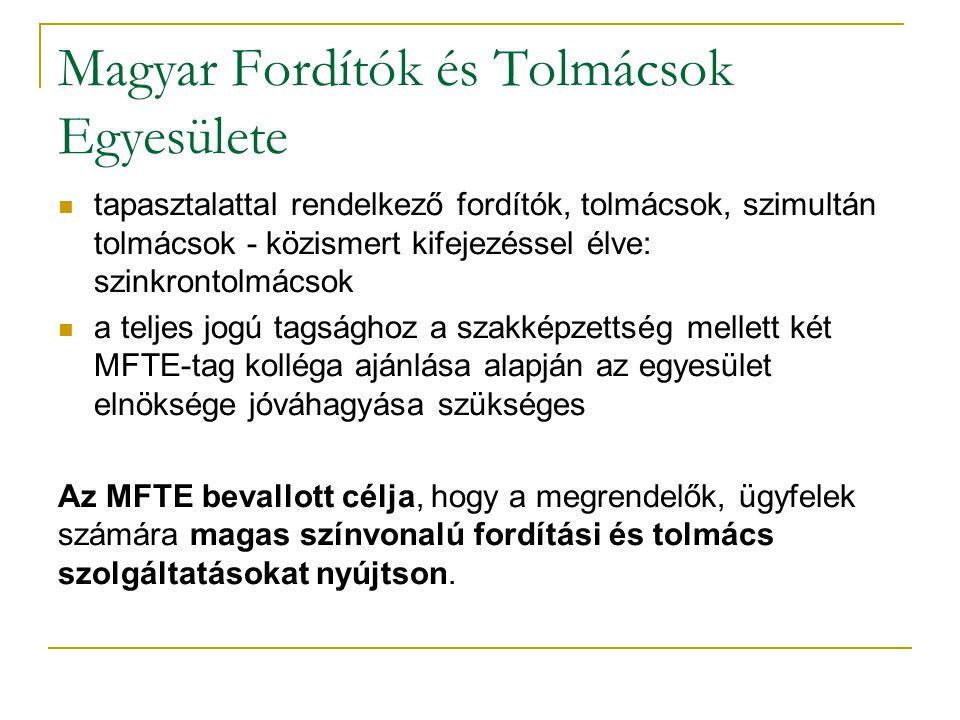 Magyar Fordítók és Tolmácsok Egyesülete