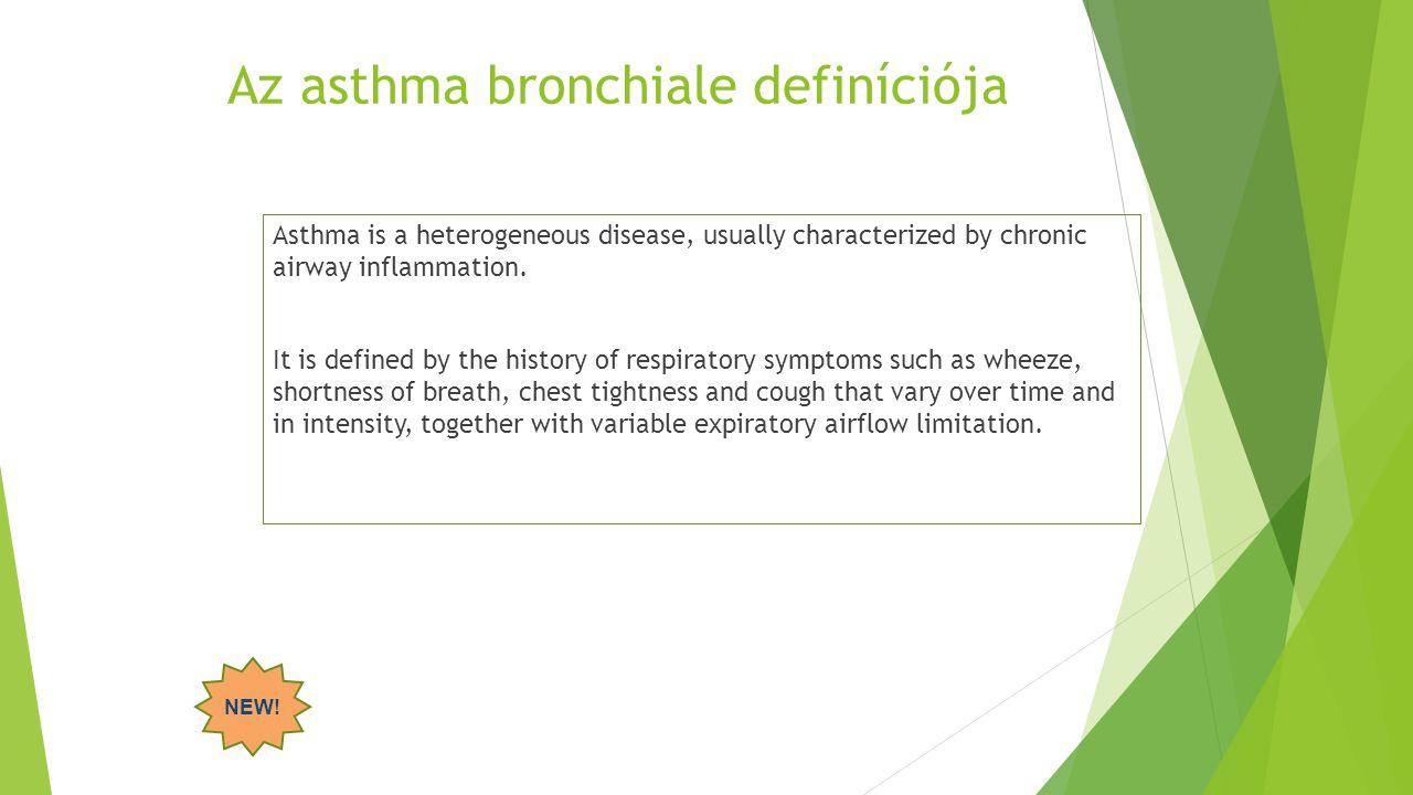 Az asthma bronchiale definíciója