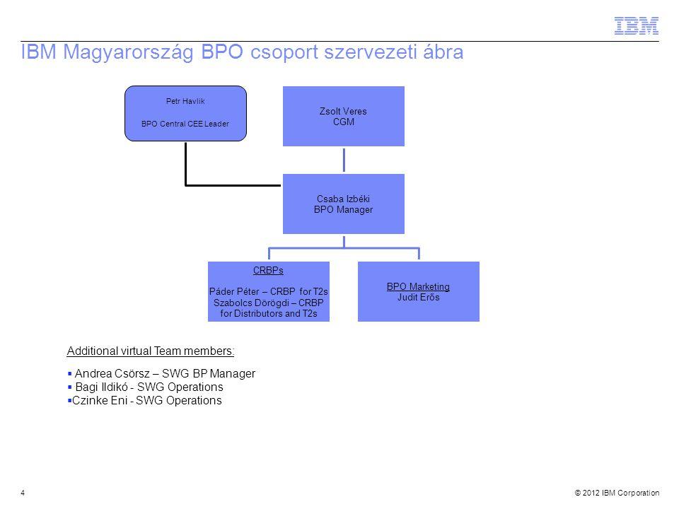 IBM Magyarország BPO csoport szervezeti ábra