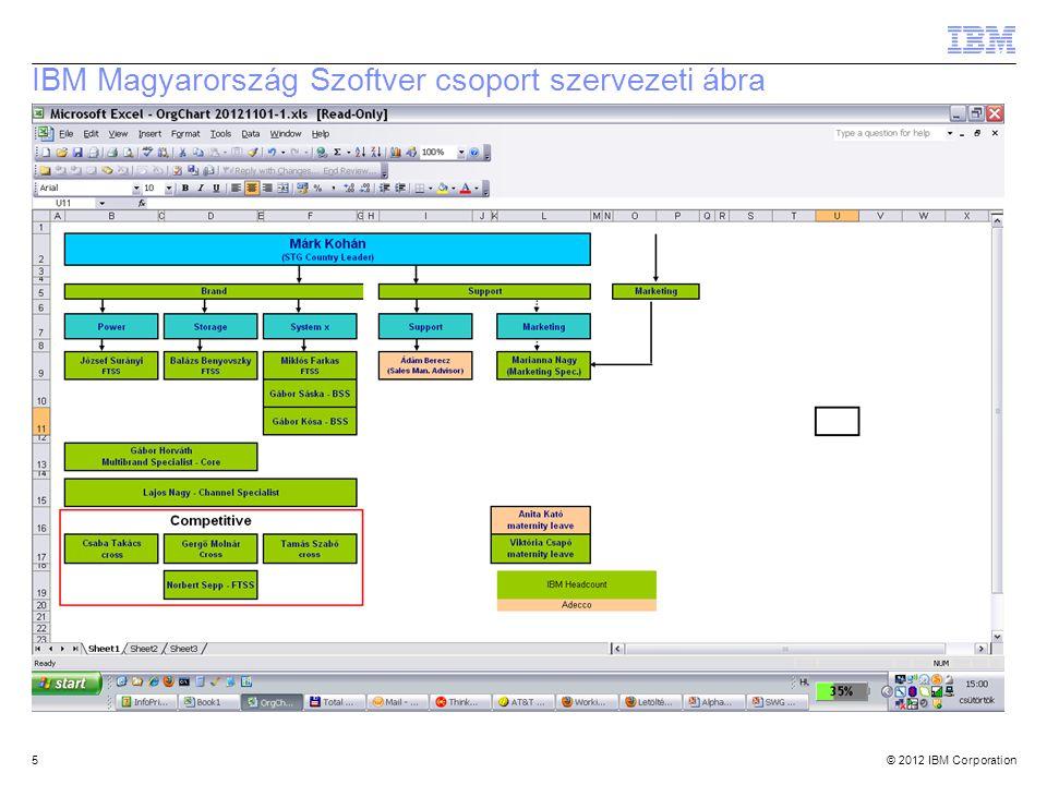 IBM Magyarország Szoftver csoport szervezeti ábra