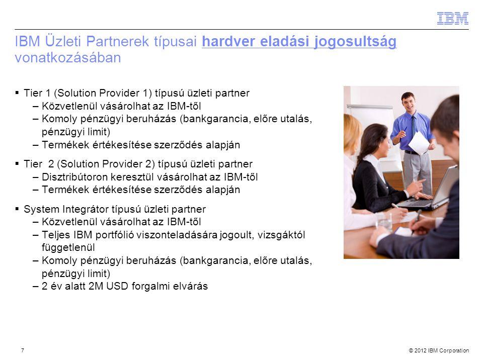 IBM Üzleti Partnerek típusai hardver eladási jogosultság vonatkozásában