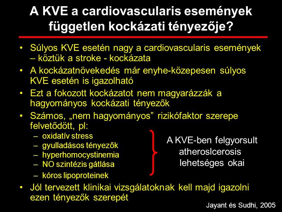 A KVE a cardiovascularis események független kockázati tényezője
