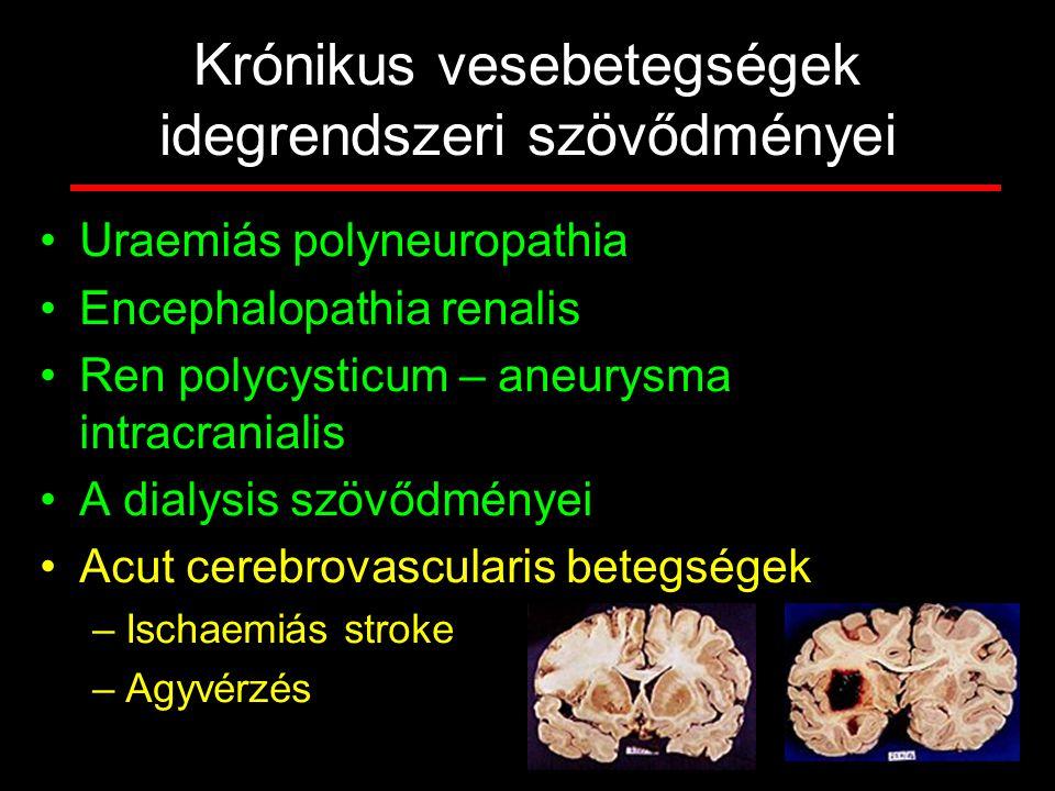 Krónikus vesebetegségek idegrendszeri szövődményei