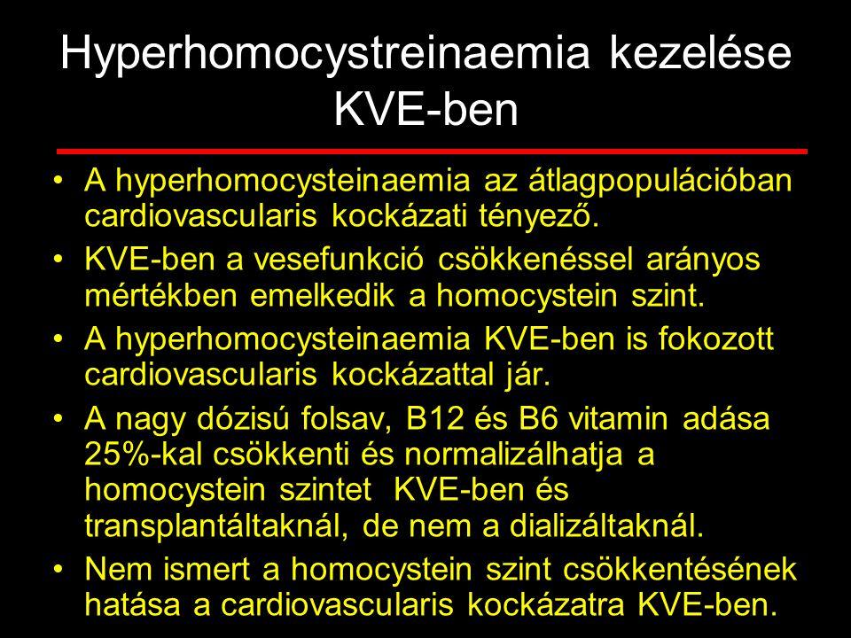 Hyperhomocystreinaemia kezelése KVE-ben