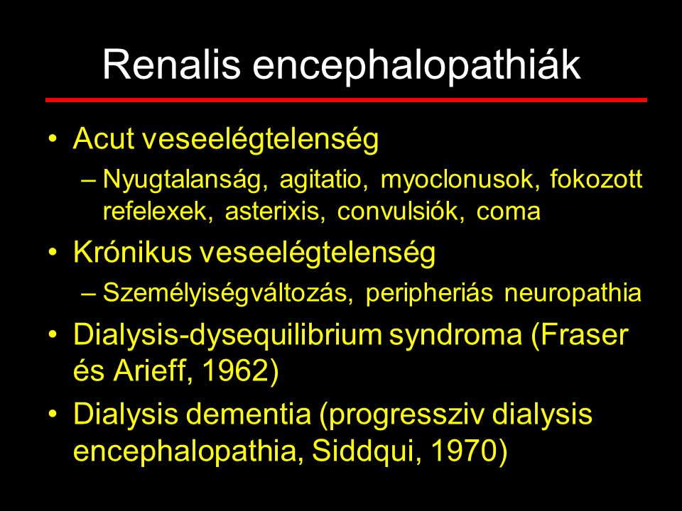 Renalis encephalopathiák