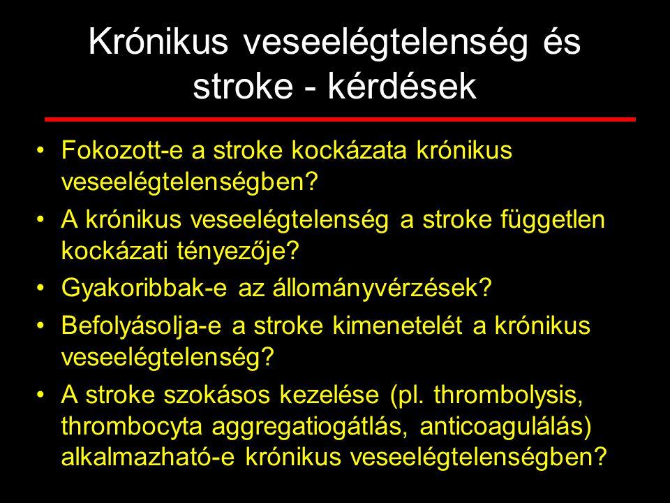 Krónikus veseelégtelenség és stroke - kérdések
