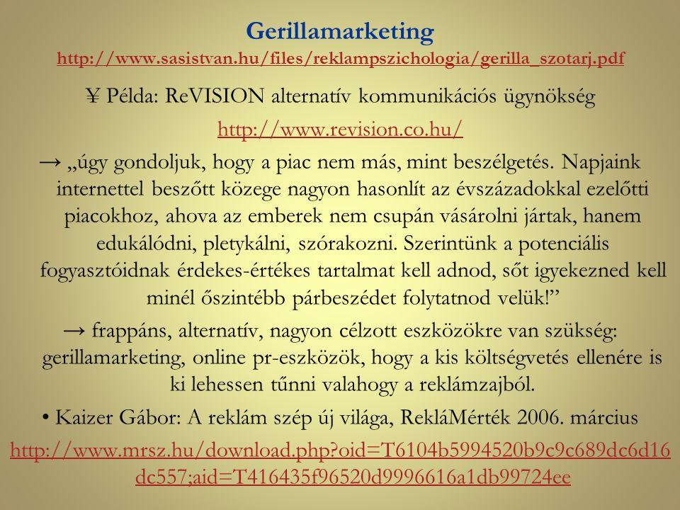 Gerillamarketing http://www. sasistvan