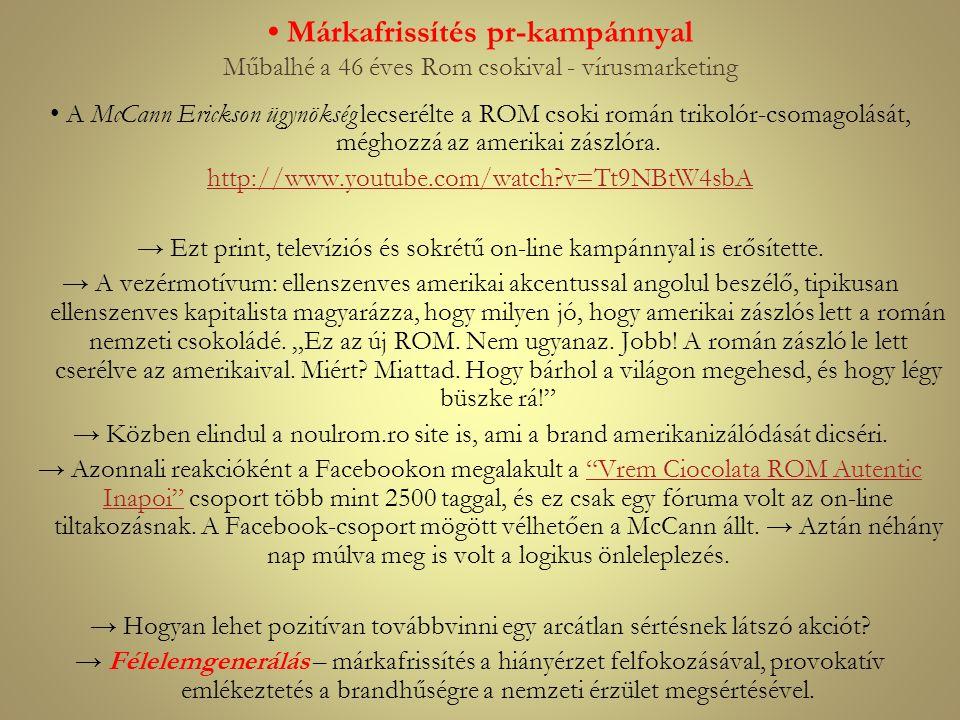 • Márkafrissítés pr-kampánnyal Műbalhé a 46 éves Rom csokival - vírusmarketing