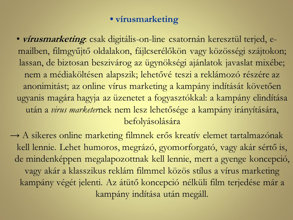 • vírusmarketing