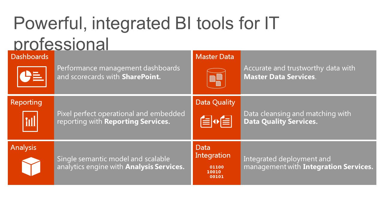 Powerful, integrated BI tools for IT professional