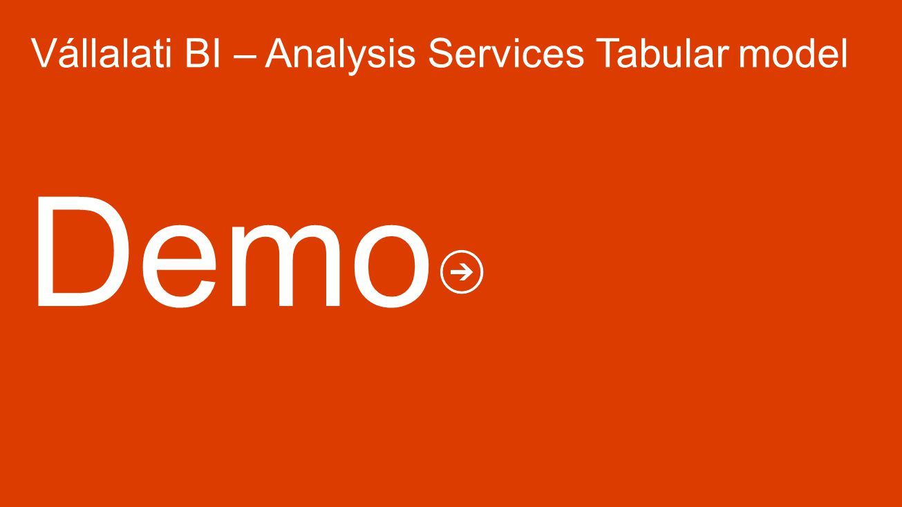 Vállalati BI – Analysis Services Tabular model