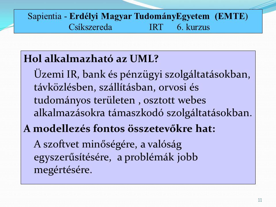 Sapientia - Erdélyi Magyar TudományEgyetem (EMTE) Csíkszereda. IRT. 6