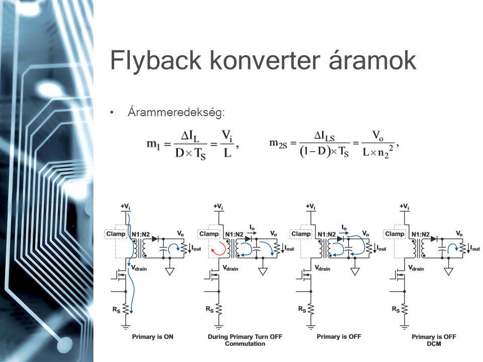 Flyback konverter áramok