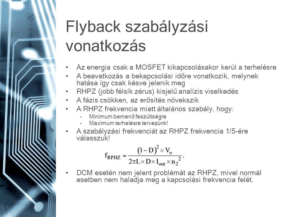 Flyback szabályzási vonatkozás