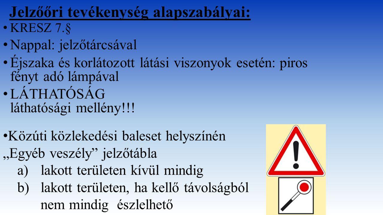 Jelzőőri tevékenység alapszabályai: