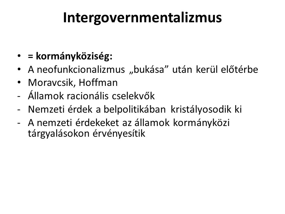 Intergovernmentalizmus