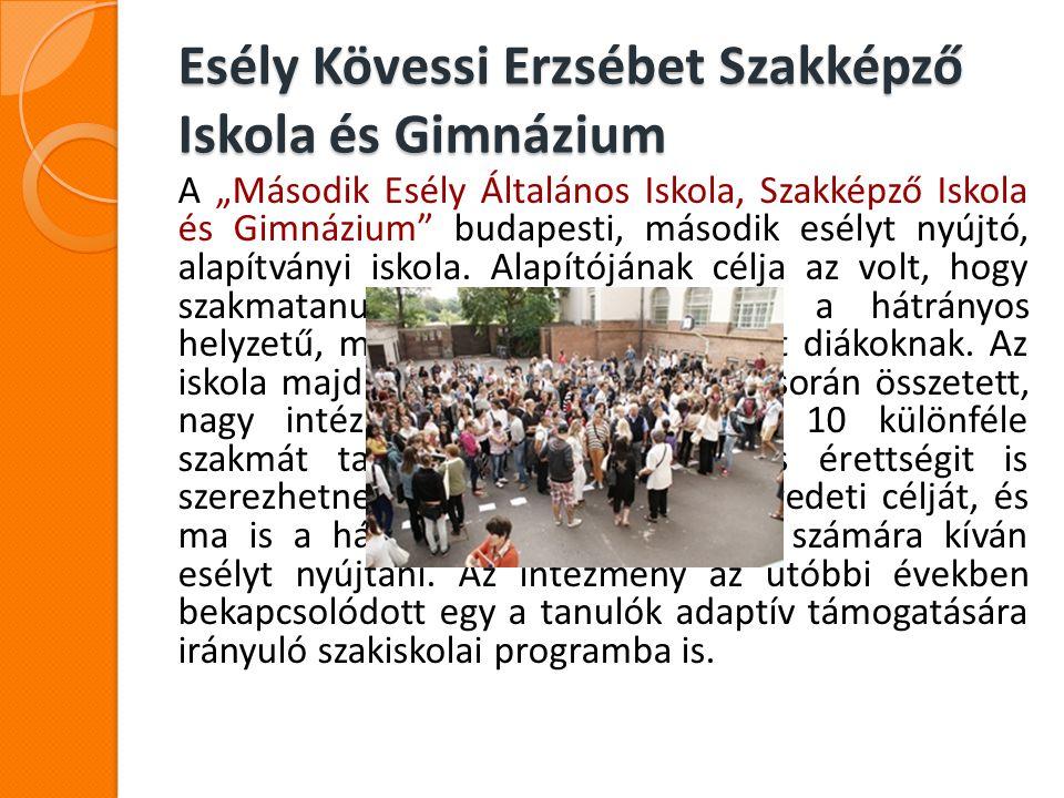 Esély Kövessi Erzsébet Szakképző Iskola és Gimnázium