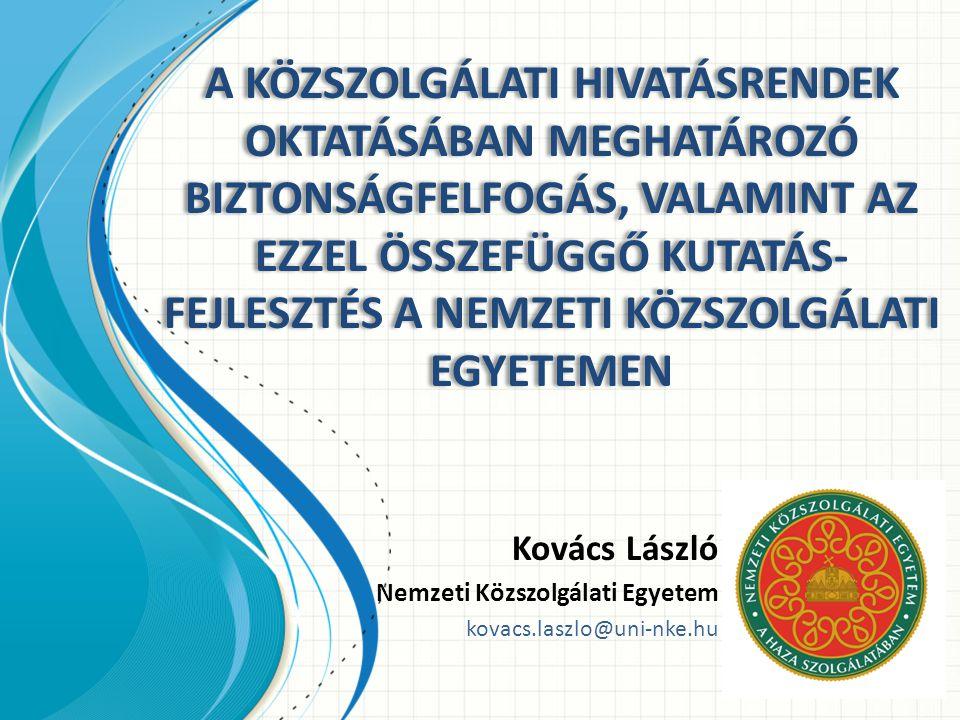Kovács László Nemzeti Közszolgálati Egyetem kovacs.laszlo@uni-nke.hu