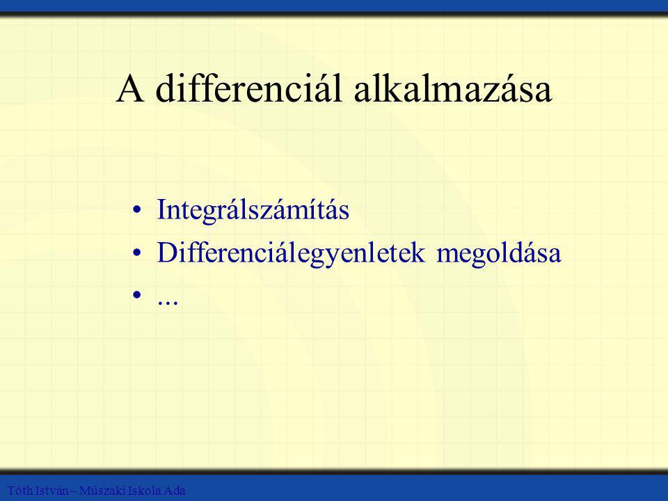 A differenciál alkalmazása