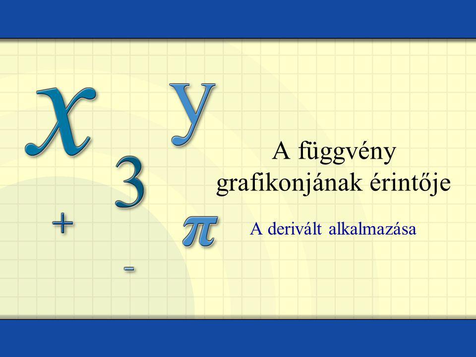 A függvény grafikonjának érintője