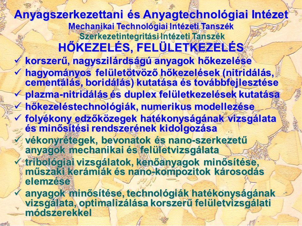 HŐKEZELÉS, FELÜLETKEZELÉS