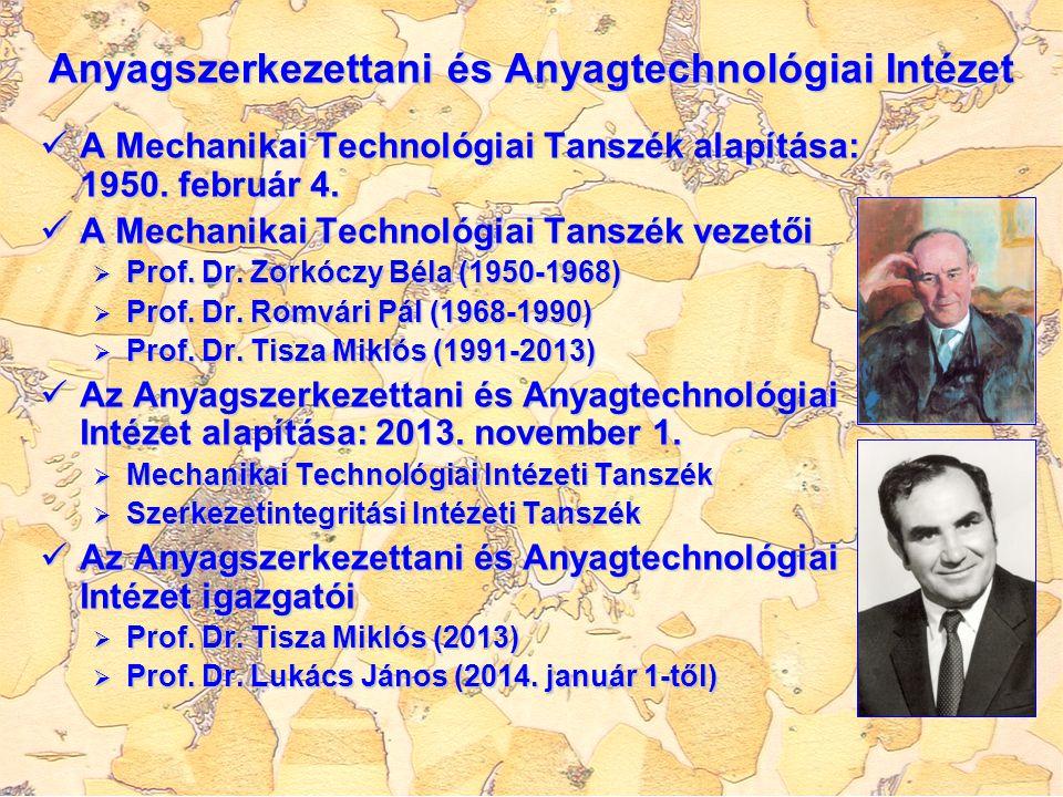 Anyagszerkezettani és Anyagtechnológiai Intézet