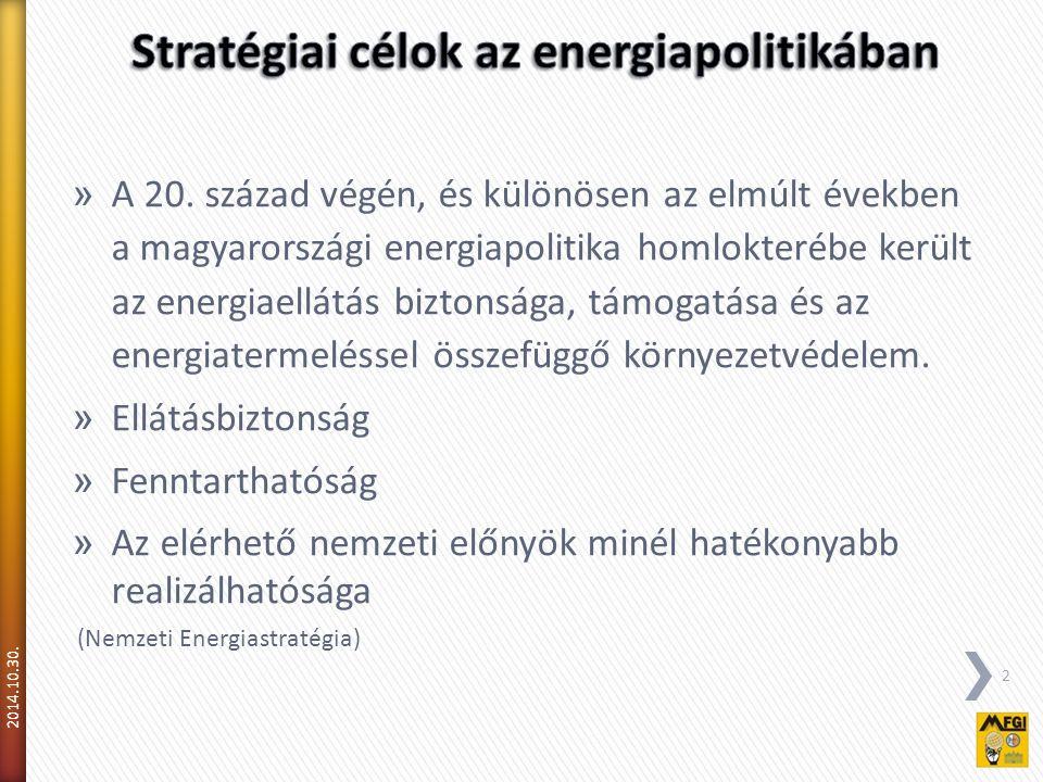 Stratégiai célok az energiapolitikában