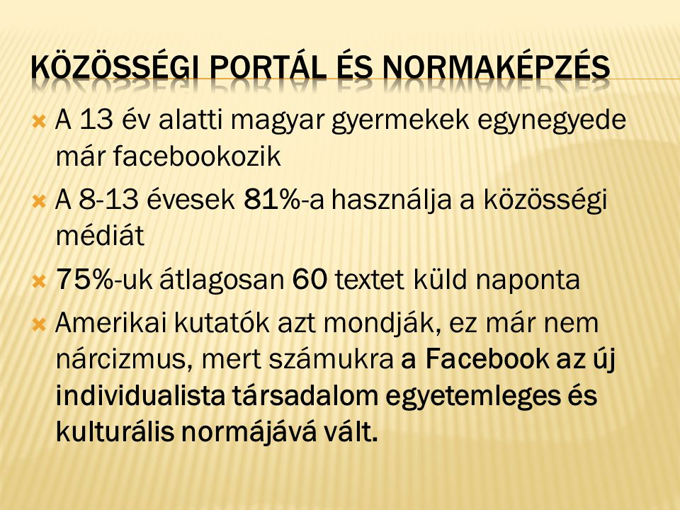 Közösségi portál és normaképzés