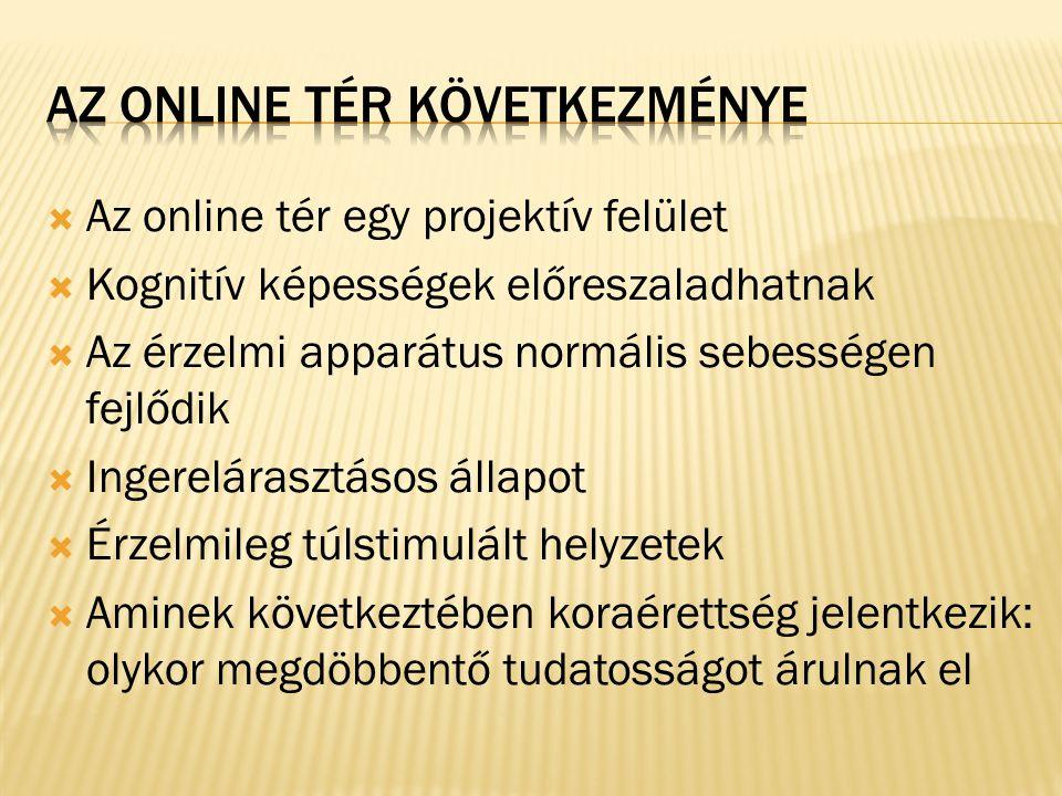 Az online tér következménye