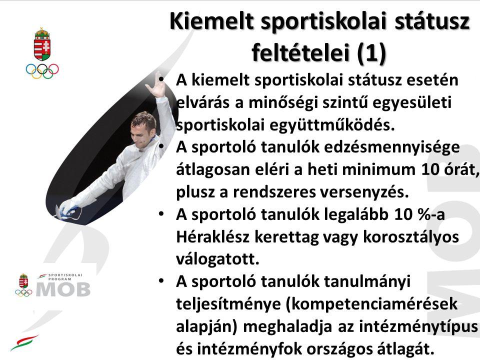 Kiemelt sportiskolai státusz feltételei (1)